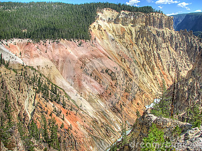 Grand Canyon of the Yellowstone in Wyoming, USA