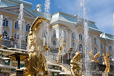 Grand Cascade Fountains in Peterhof