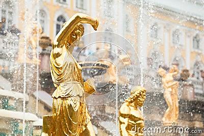 Grand Cascade Fountains At Peterhof Palace