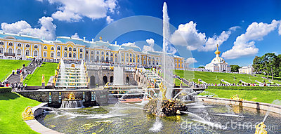Grand cascade in Pertergof, St.Petersburg