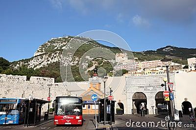 Grand Casemates, Gibraltar Editorial Stock Photo