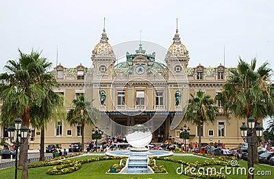Grand Casino in Monte Carlo, Monaco. Editorial Stock Photo