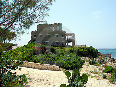 Grand castle style home on Grand Cayman