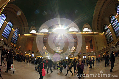 Grand Central Station in New York City Editorial Stock Photo