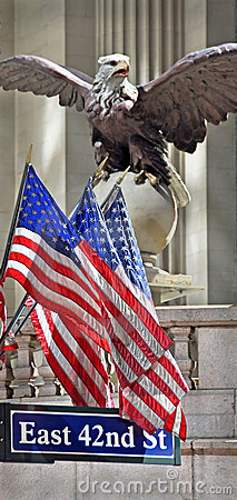 Grand Central Terminal Eagle & Flags New York Editorial Image