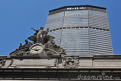 Grand Central Terminal and MetLife Building Editorial Stock Photo