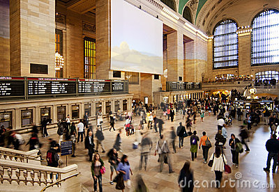 Grand Central train station ticket hall Editorial Stock Image