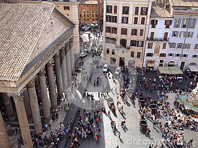 Grand Dos De Panthéon, Rome Photo libre de droits - Image: 27931075