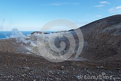 Grand (Fossa) crater of Vulcano island near Sicily