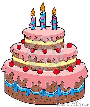 Bon anniversaire - Page 14 Grand-gâteau-d-anniversaire-de-dessin-animé-15734945