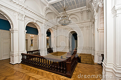 Grand hall in old majestic palace