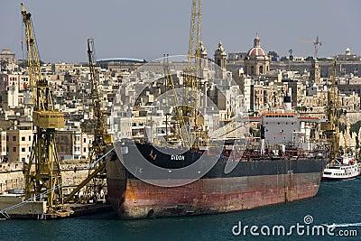 Grand Harbour in Valletta - Malta Editorial Image