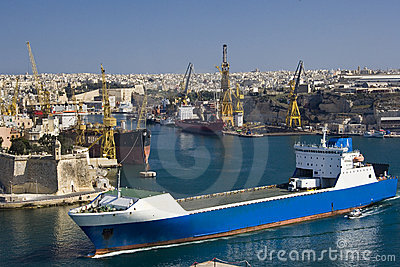Grand Harbour in Valletta - Malta Editorial Photo