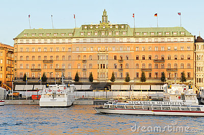 Grand Hotel, Stockholm Editorial Photo