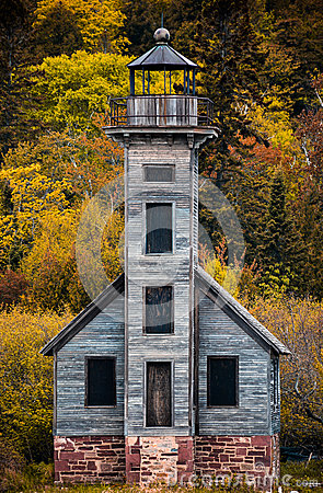 Free Grand Island East Channel Lighthouse On The Way To Pictured Rock Royalty Free Stock Photo - 48697865