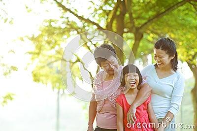 Grand-mère, mère et moi