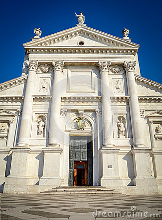 Grand Marble Church In Venice Italy Stock Photo