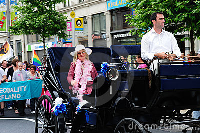 The grand marshall of Dublin Pride Parade 2010. Editorial Image