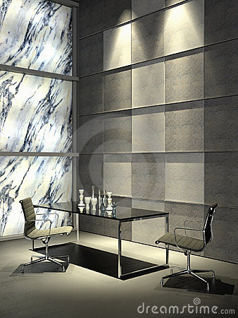 Grand minimalist interior