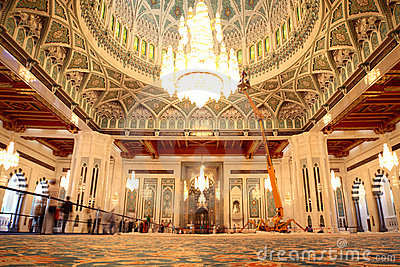 Grand mosque in Oman general view