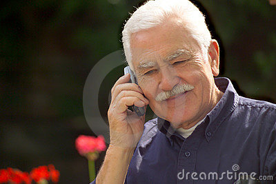 Grand pa and cellphone
