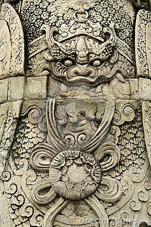Grand palace detail bangkok thailand