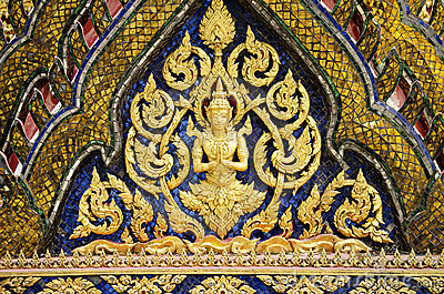 Grand palace temple detail bangkok thailand
