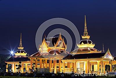 The Grand Palace and temporary pagoda