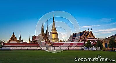 The Grand Palace & Wat Phra Kaew (The Emerald Buddha Temple), Bangkok, Thailand. landmark of Thailand.