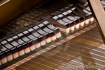 Grand piano close-up