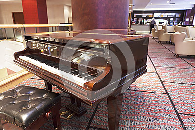 Grand piano at hotel bar area