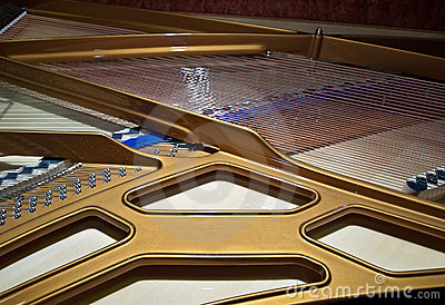 Grand piano inside