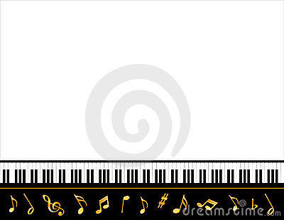 Grand Piano Music Poster