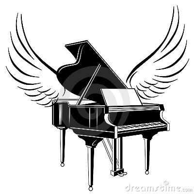 Grand piano and wing