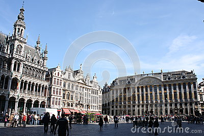 Grand Place In Brussels Editorial Stock Photo