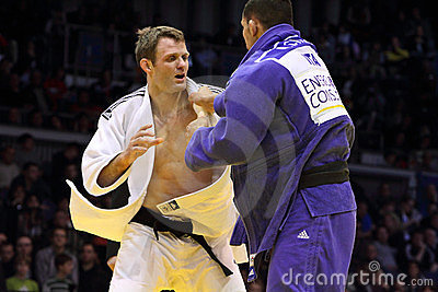 Grand Prix 2012 DÃ ¼ sseldorf Duitsland van het judo Redactionele Stock Foto