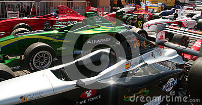 A1 Grand Prix cars Editorial Photo