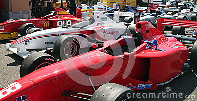 A1 Grand Prix cars Editorial Stock Image