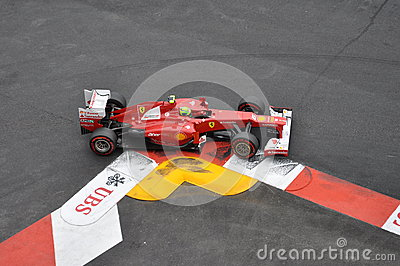 Grand Prix Monaco 2012 - Ferrari of Felipe Massa Editorial Stock Photo