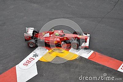 Grand Prix Monaco 2012 - Ferrari of Felipe Massa Editorial Stock Photo