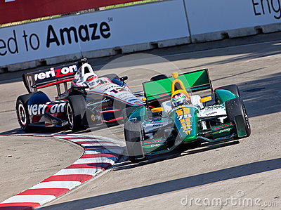 Grand Prix Racing in Detroit Michigan Editorial Stock Image
