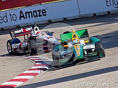 Grand Prix Racing in Detroit Michigan Editorial Stock Image