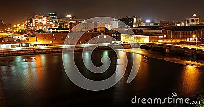 Grand Rapids, MI at night