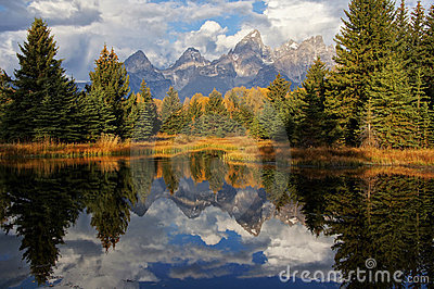 Grand Teton Mountains in Autumn