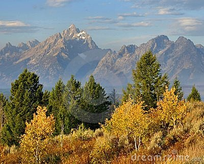 The Grand Tetons In Autumn