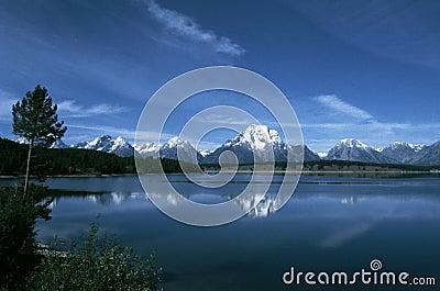 Grand Tetons Reflected in Jackson Lake
