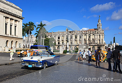 Grand Theater of Havana. Editorial Stock Photo