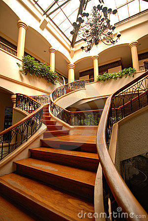 Grand Wooden Staircase