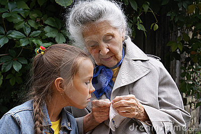Granddaughter and her grandmother
