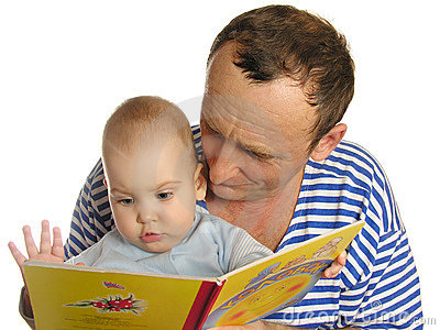 Granddaughter read book